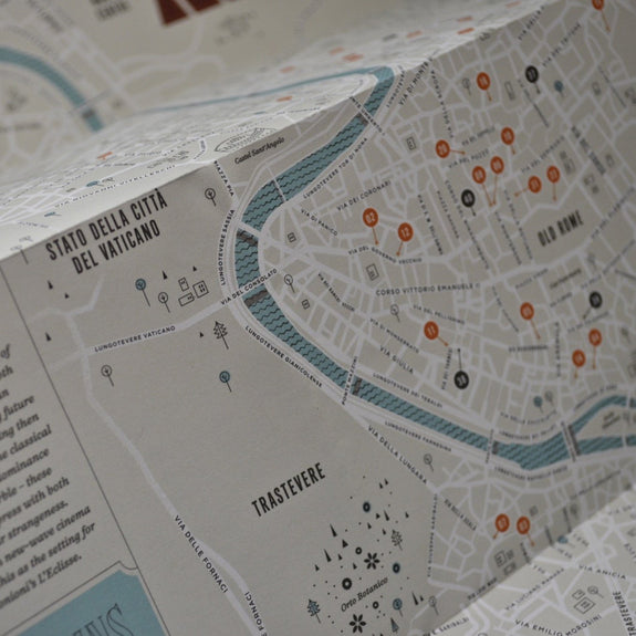 Rome: Moods & Places  - Travel Guide map detail