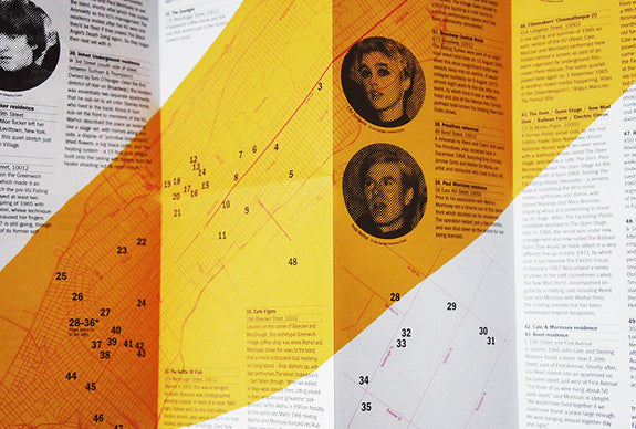 The Velvet Underground Map Of New York Travel Guide - unfolded