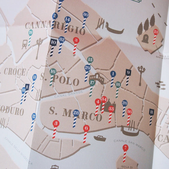 Venice: Step Lightly - Travel Guide map detail