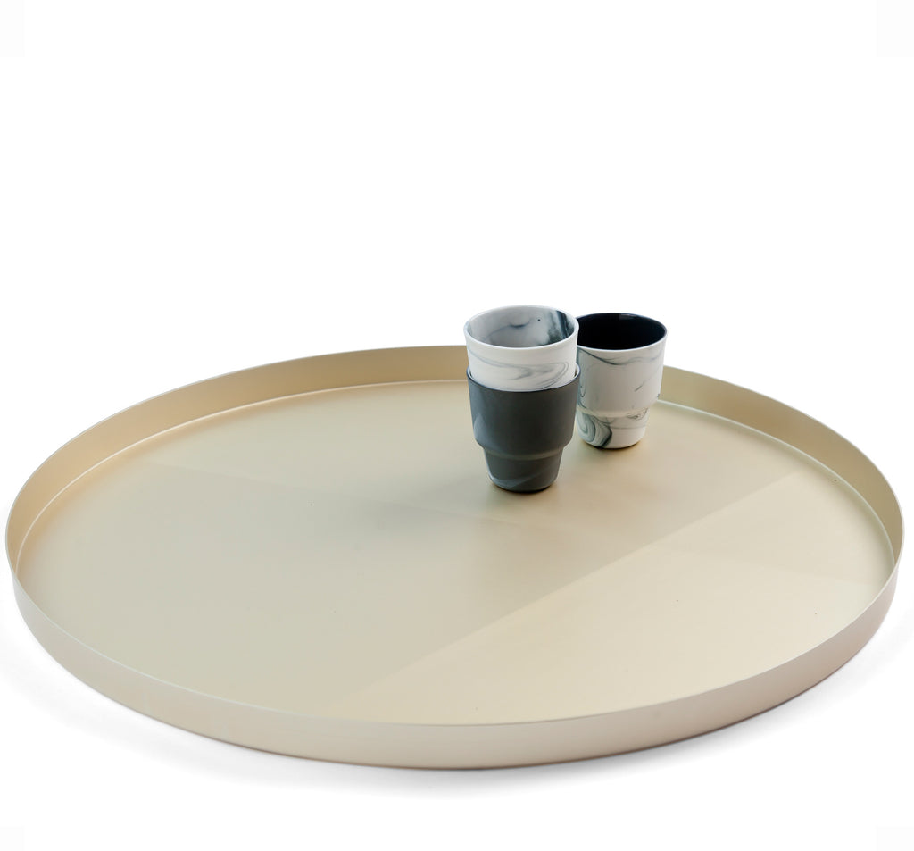 Champagne Sandpaper Tray with cups