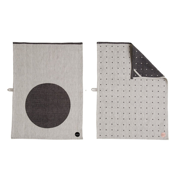 dot tea towel - front & back