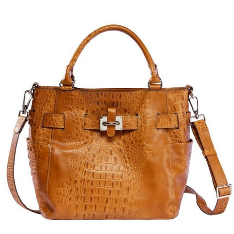 Gaia Croco Embossed Tote