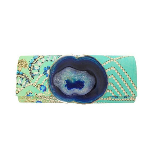 Jeweled Turquoise Clutch