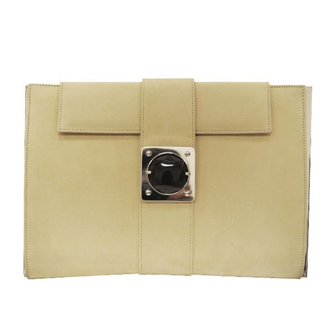 Cream Envelope Clutch