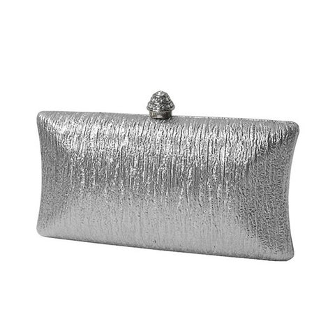 Shiny Leather Basic Clutch