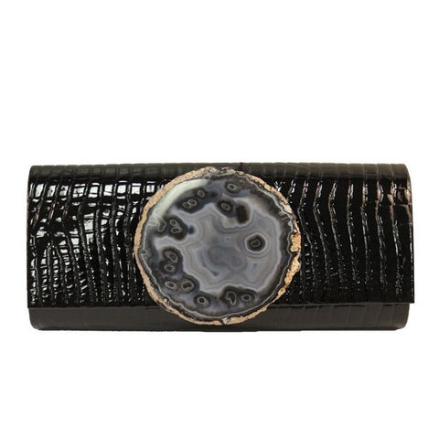 Small Croc Embossed Clutch
