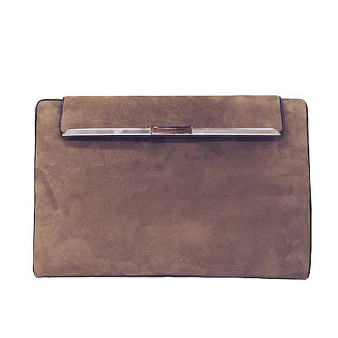 Ultra Soft Suede Leather Envelope Clutch