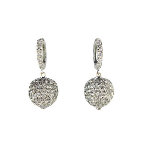Crystal Drop Ball Earrings