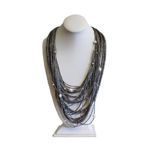 Silver Pearl Necklace - More Colors Available