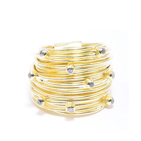 18K GP Swarovski Crystal Wrap Ring