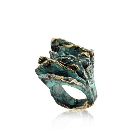 Bronze Layered Slate Ring