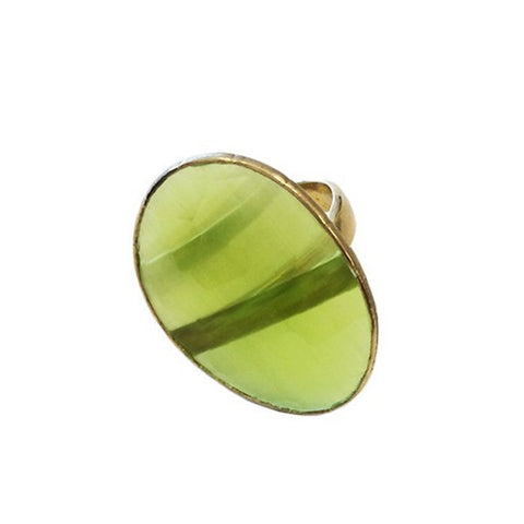 Large Green Stone Ring