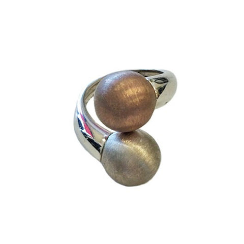 Sterling Silver Stacked Ball Ring