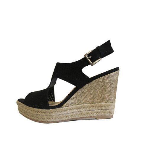 Textile Wedges - Black