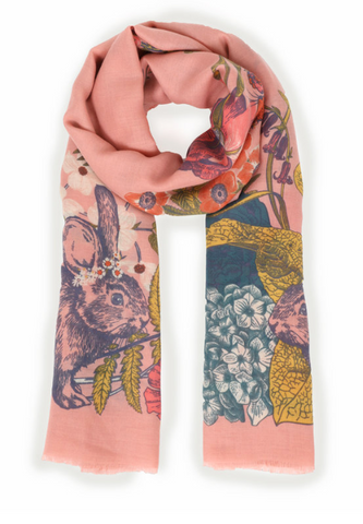 Countryside Animals Print Scarf