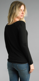 Black Long Sleeve with Silver Trim