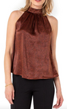 Sleeveless Spotted Tank Top with Neck Ties
