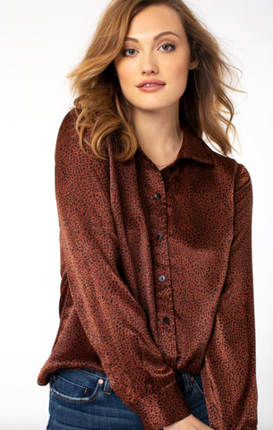 Spotted Long Sleeve Blouse