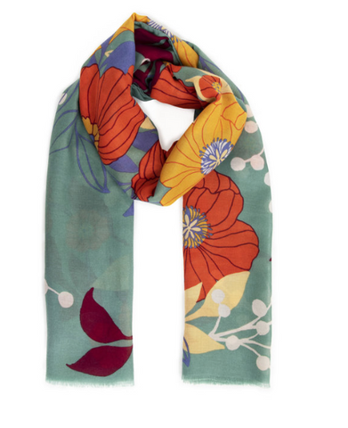 Autumn Floral Scarf