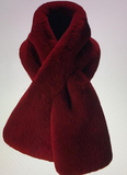 Faux Fur Scarf (Available in Burgundy or Deep Lavender )