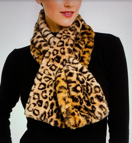 Faux Fur Scarf (Available in Cheetah, Honey, or Black)