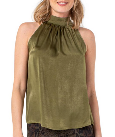Sleeveless Olive Tank Top