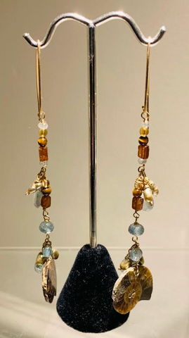 Multi Crystal Dangle Earrings