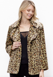 Leopard Collared Fur Jacket (Available in Mocha or Olive)