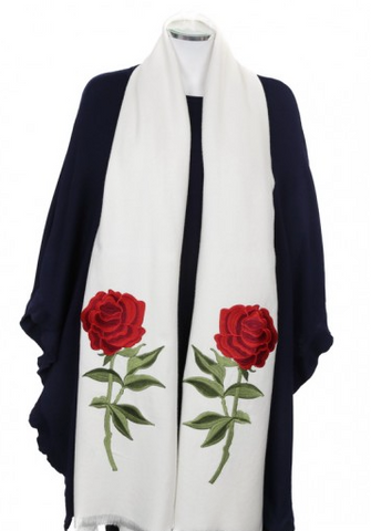 Two Rose Wrap (Available in black or white)