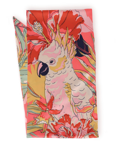 Cockatoo Satin Scarf