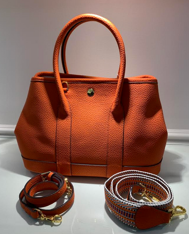 Large leather Orange Purse