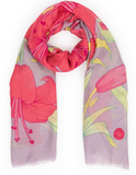 Lily Print Scarf
