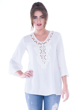 Juliette Crochet Collar Top
