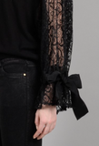 Lace Sleeved Sweater