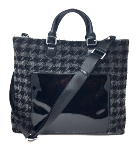 Black-Grey Houndstooth Bag