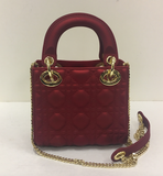 Small Quilted Red Bag