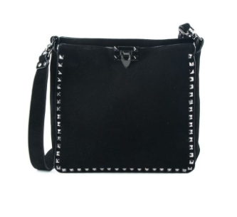 Studded Suede Messenger Bag (Available in Navy and Black)