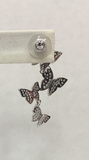 Silver Butterfly Drop Earrings