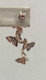 Rose Gold Butterly Earrings