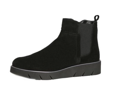 Black Waterproof Suede Booties