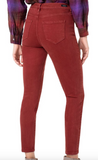 Abby High Rise Ankle Skinny (Cherry Wood)