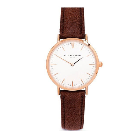 Oxford Ladies - Brown Leather
