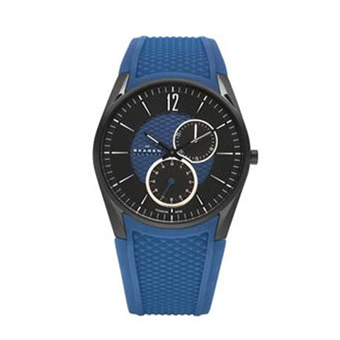 Blue & Black Titanium Watch