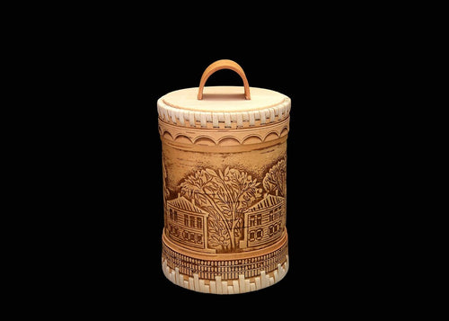 Hand-crafted Siberian Birch Bark container