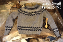 Siberian hand knitted wool sweater
