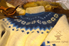 Siberian hand knitted 100% wool sweater