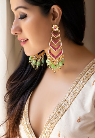 Earrings - Pachi Kundan