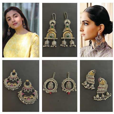 Oxidised earrings for navratri