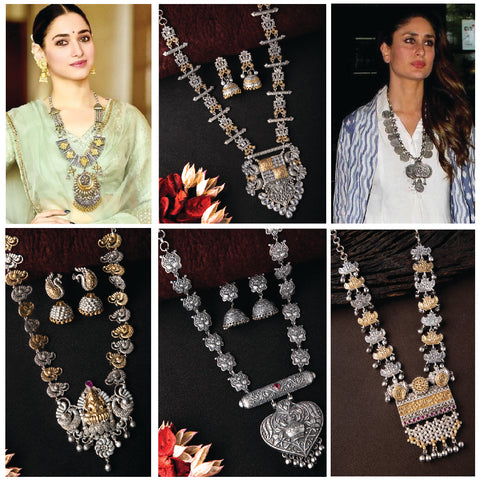 Oxidised necklaces for navratri