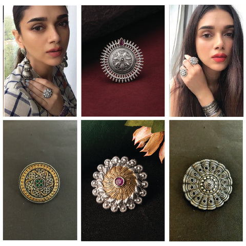 Oxidised rings for navratri